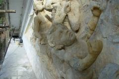 Restauración de conjunto escultórico del capitel.